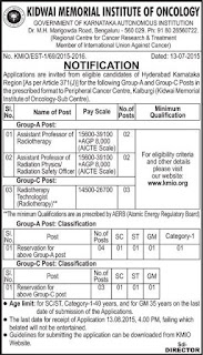 Kidwai Memorial Institute of Oncology (KMIO) Recruitments (www.tngovernmentjobs.in)