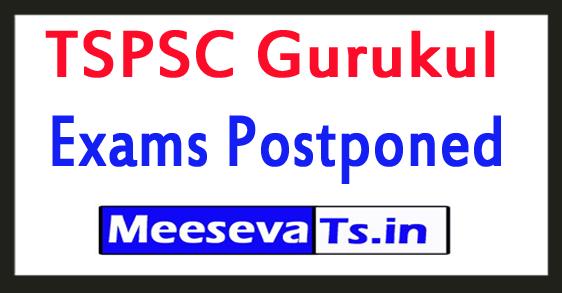 TSPSC Gurukul Exams Postponed 2017