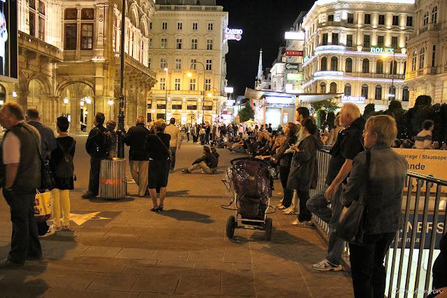 Lume adunatã lângã Opera din Viena-blog FOTO-IDEEA