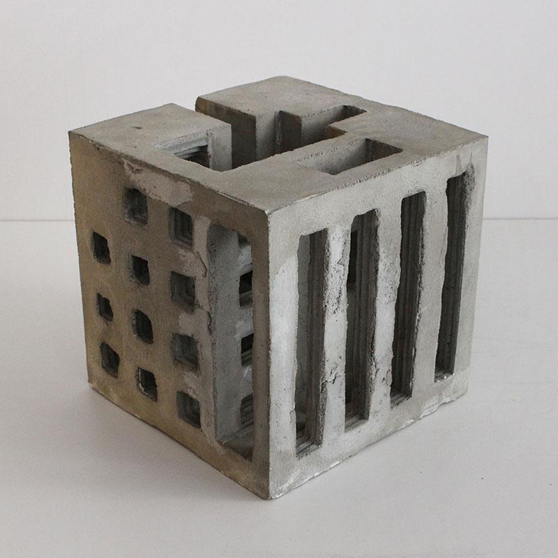 brutalist concrete sculptures by david umemoto. Black Bedroom Furniture Sets. Home Design Ideas