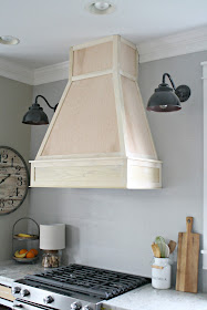 stand alone wood vent hood