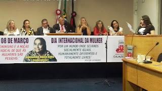 Câmara Municipal de Cajazeiras realiza Sessão Especial para comemorar o Dia da Mulher