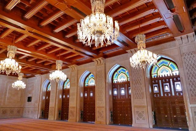 Frauen, Gebet, Saal, leuchter, Muranoglas, Sultan, Qabus, Moschee, Muscat, Oman
