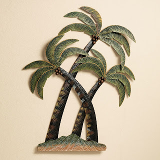 Interesting concept for palm tree decor