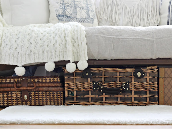 7 Ways I have used Wicker Baskets around our home.