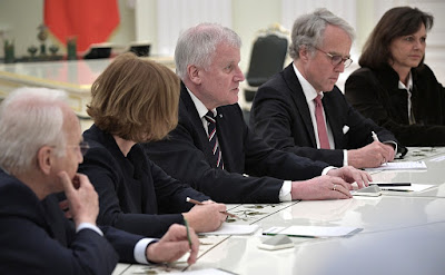 Meeting with Minister-President of Bavaria Horst Seehofer.