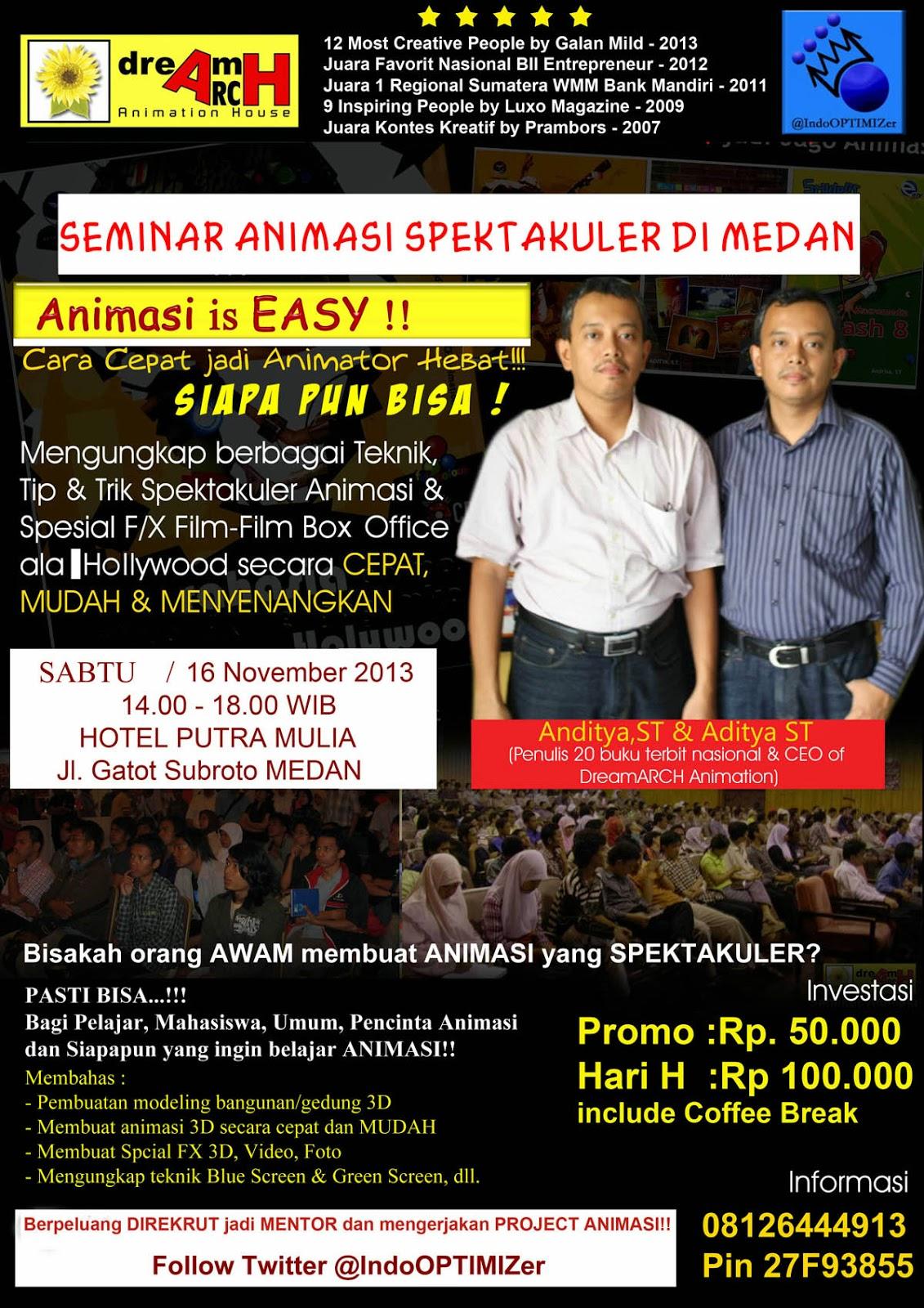 Seminar Animasi Is Easy Oleh Dream Arch Di Medan