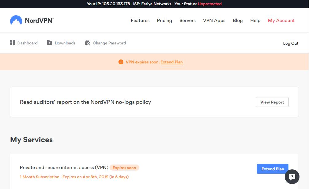 nordvpn username and password free