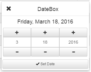 jQuery Mobile DateBox Competable With jQueryMobile, Bootstrap