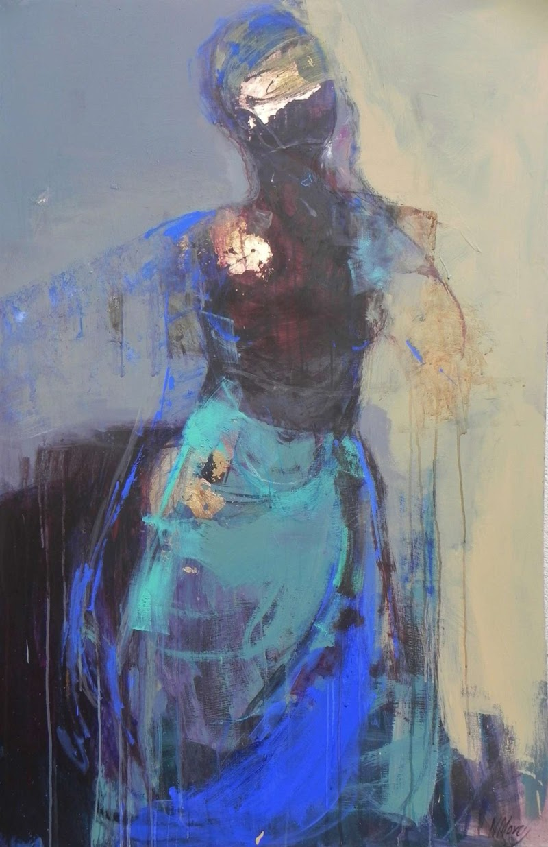 Abstract Expressionist Paintings by Magdalena Morey.