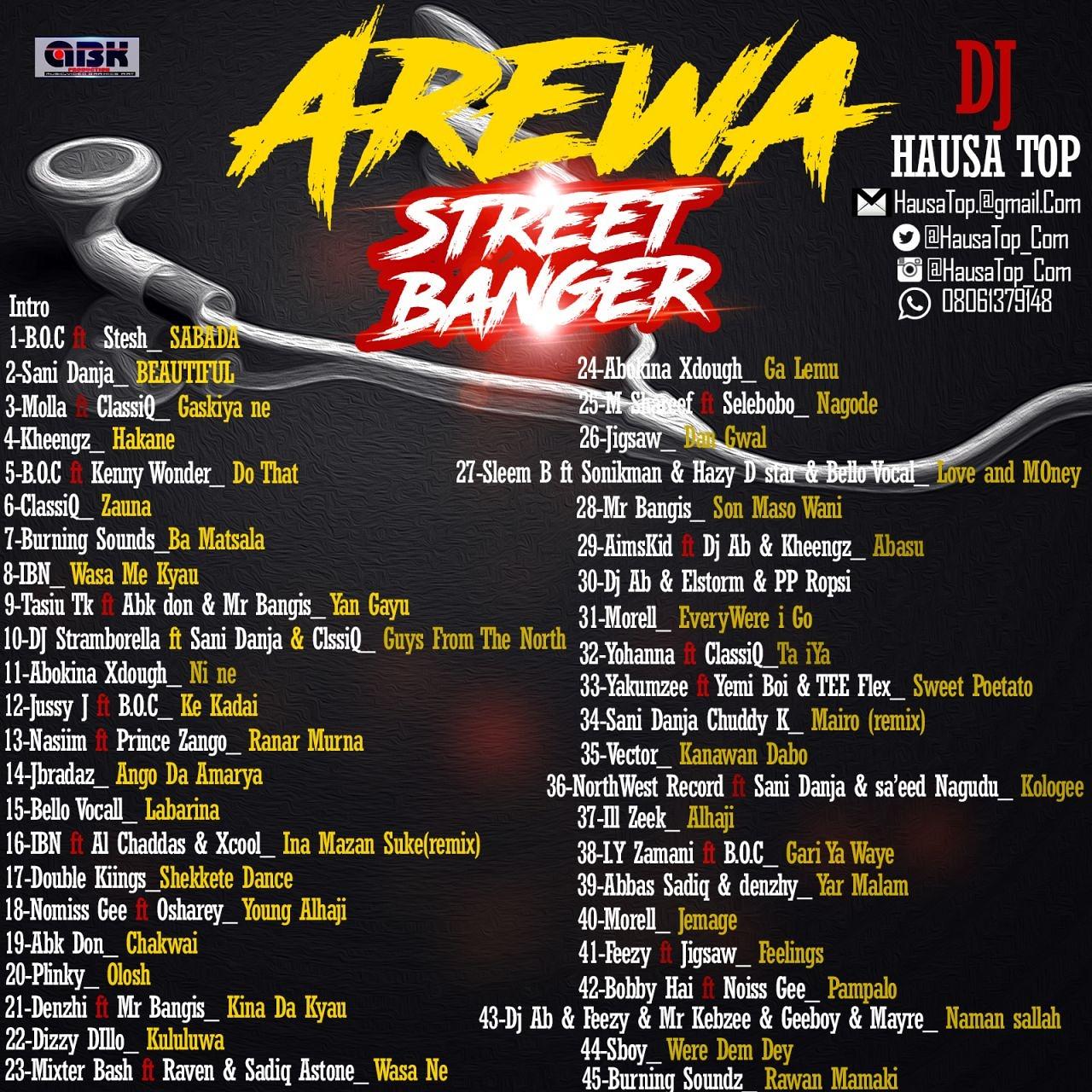 DJ HAUSATOP – AREWA STREET BANGER 2017 MIX VOL 1 - AREWA