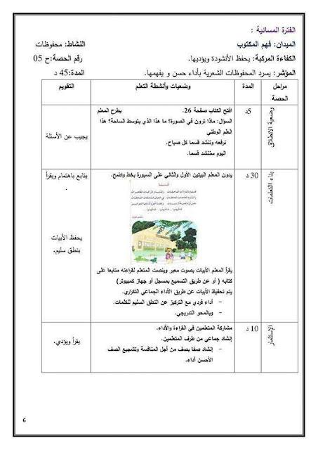 مذكرات السنة الاولى ابتدائي الجيل الثاني 2018-2019 مادة اللغة العربية المقطع الاول عائلتي