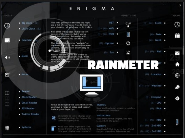 Image result for Rainmeter lets you customize your Windows desktop with widgets & skins