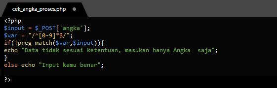 Membatasi Input Hanya Boleh Diisi Angka Saja Menggunakan PHP