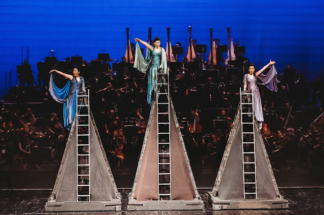 Wagner: The Ring - Das Rheingold - Michiko Watanabe, Yukiko Aragaki, Misaki Ono as Rhinemaidens - Erl Festival (Photo Xiomara Bender)