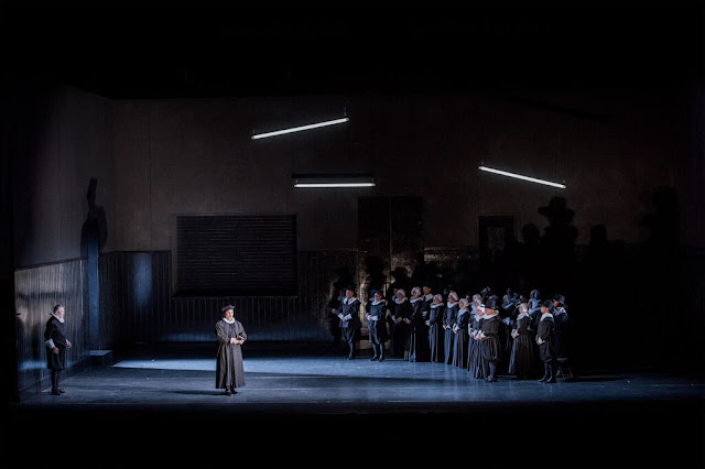 I Puritani - Welsh National Opera - Directed Annilese Miskimmon, sets and costumes by Leslie Travers - photo Robert Workman
