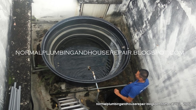 Normal Plumbing Saluran Air Bahan Dari Sinki Dapur Tersumbat Sistem Satu Paip