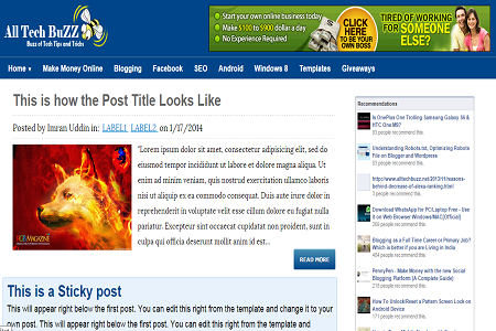 seo friendly fast loading blogger template