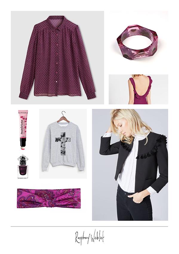 wishlist mode blog clemence m framboise raspberry mademoiselle r claudie pierlot