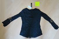 hinten: ZANZEA Damen V-Ausschnitt Spitze Bluse Hemd T-Shirt Oberteil Tops