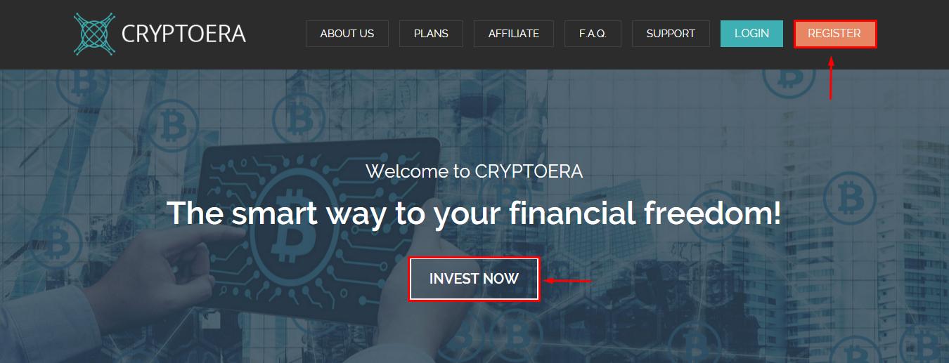 Регистрация в CryptoEra