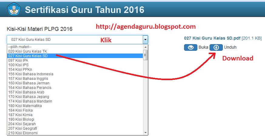 Download Kisi-kisi Sertifikasi Guru 2016