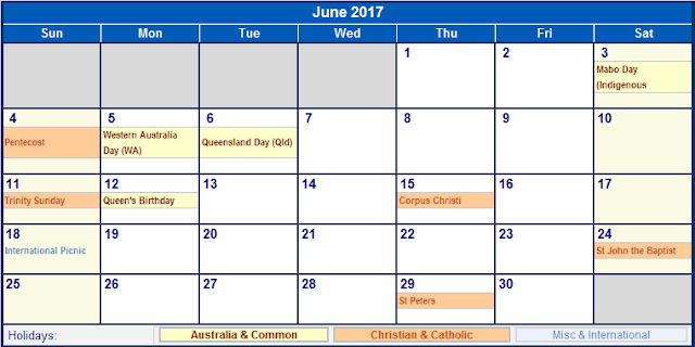 June 2017 Holiday Calendar, 2017 Calendar Holidays, 2017 Calendar Holidays Print, 2017 Calendar Holidays Printable, 2017 Calendar Holidays Template, 2017 Calendar with Holidays, 2017 Calendar with Holidays Printable