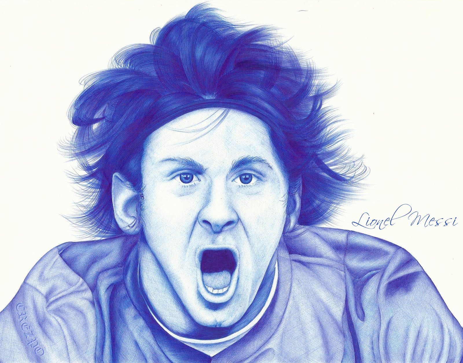 Retrato  Lionel Messi  Dibujos y retratos a lapicero