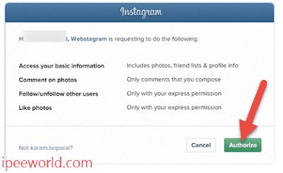 Authorize-Instagram-to-webstagram