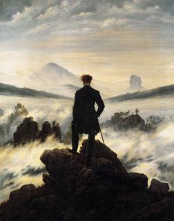 Friedrich - Caminante sobre el mar de nubes (1818)