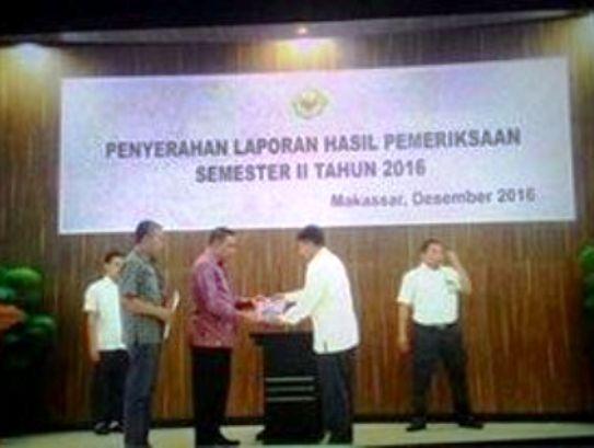 Dr.H.Zainuddin SH.MH, Hadiri Penyerahan LHP Semester II 2016, Makassar