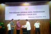 Dr.H.Zainuddin SH.MH Hadiri Penyerahan LHP Semester II 2016 Di Makassar