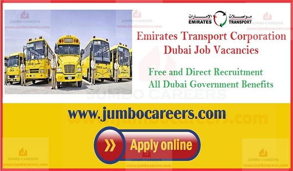 Urgent jobs in Dubai Emirates Transport, Current Transport jobs with salary,