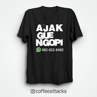 Kaos Kopi Desain Terbaru Coffee Attack Untuk Pecandu Kopi
