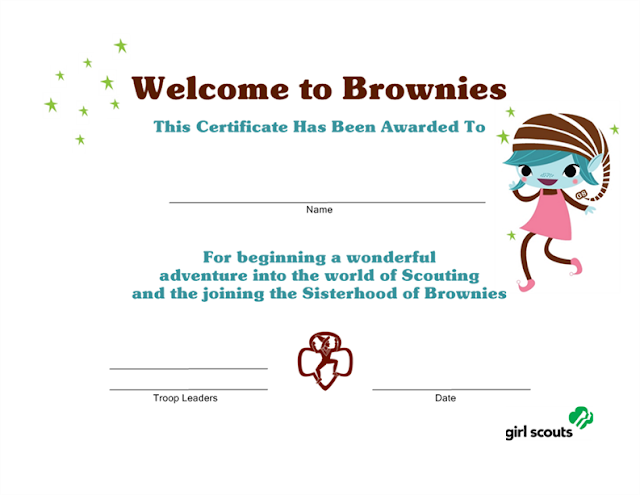 Girl scout printables for Girl scout award certificate templates