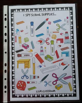 Back to School I Spy School Supplies