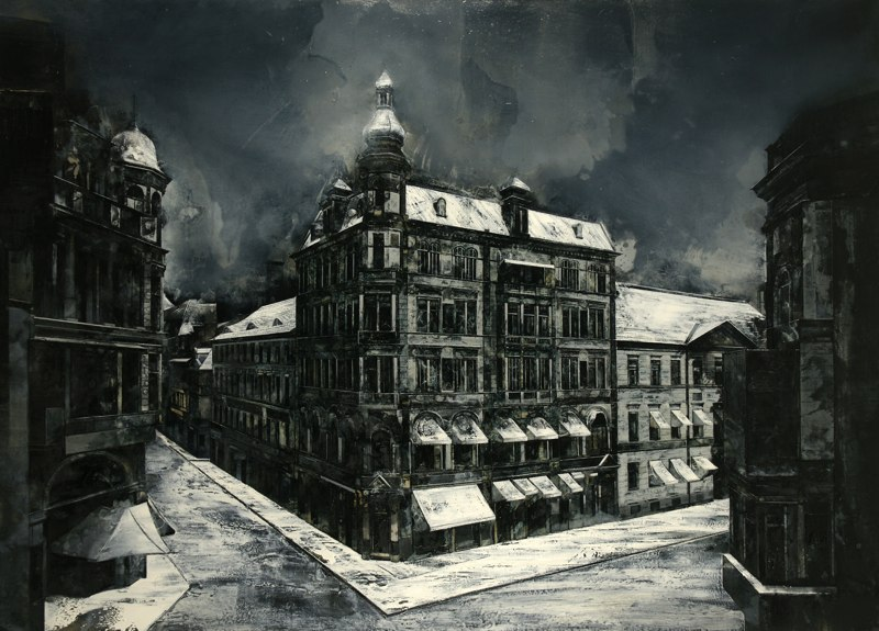 18-To-Unpick-Time-s-Hold-Mark-Thompson-Austere-and-Desolate-Cityscapes-Paintings-www-designstack-co