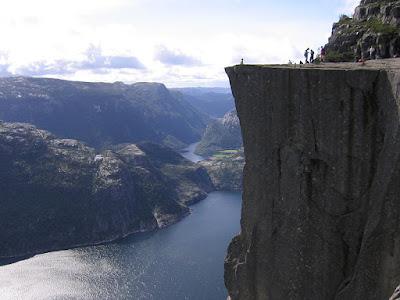 Paisaje hermoso, Preikestolen Noruega.