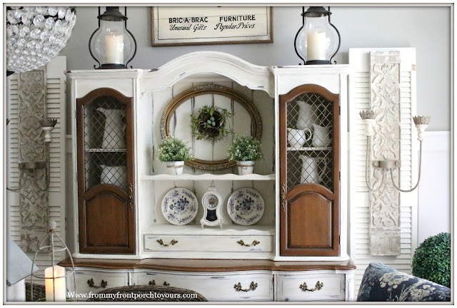 French Country Farmhouse-Spring Decor-Dining Room-Vinatge Style-From My Front Porch To Yours