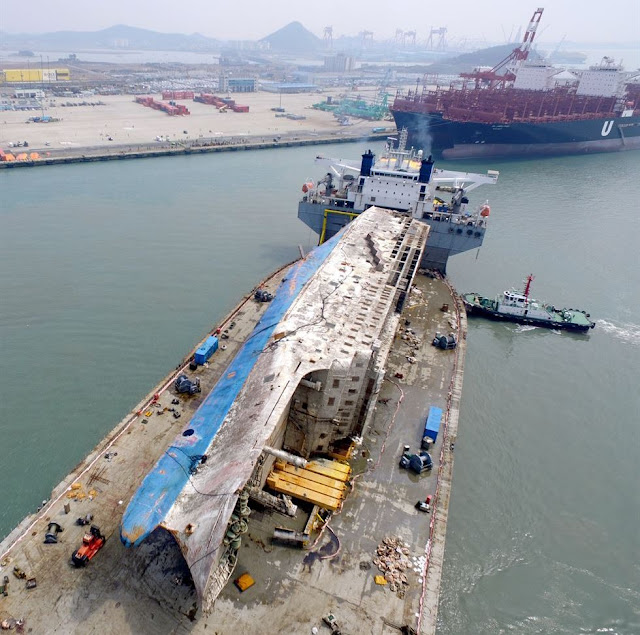 El ferri Sewol a su llegada al puerto de Mokpo