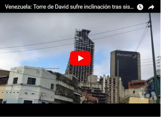 Es preocupante la inclinación de la Torre de David