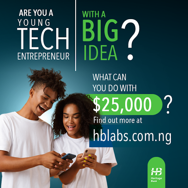 $25,000 for Grabs at Heritage Bank Youth Innovative Entrepreneurship Development Programme