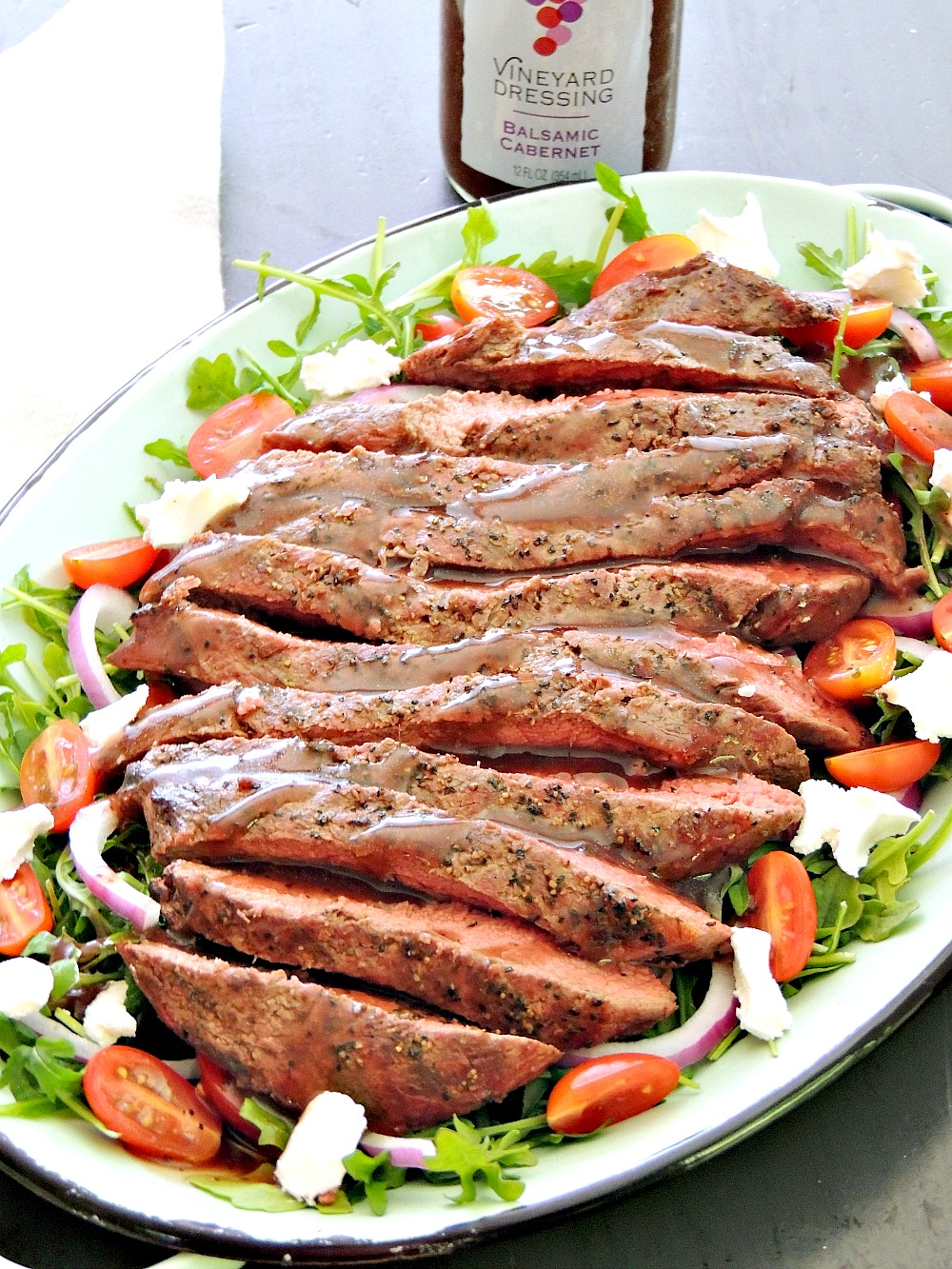 Grilled Steak Salad With Balsamic Cabernet Dressing
