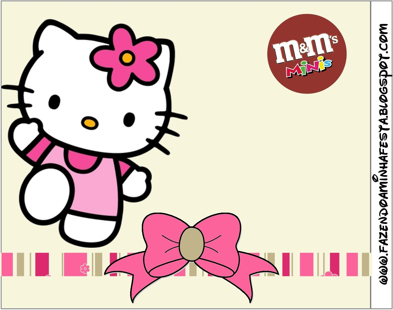 Hello Kitty With Flowers Free Printable Candy Buffet