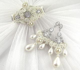 Luksusowy komplet ślubny sutasz ivory.