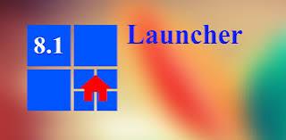 ဖုန္း Launcher ဒီဇိုင္းအလန္းစားေလး - 8.1 Metro Look Launcher Pro v1.3 Apk