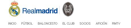 escudo de portada de la web del Real Madrid