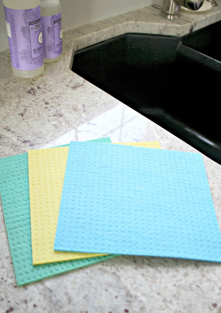 Sponge clothes instead of paper towels for cleaning