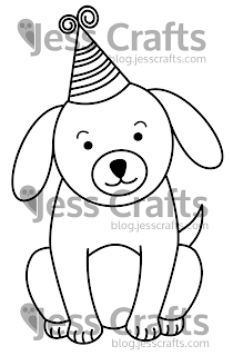 Jess Crafts Digitals Delightful Doggy Dog Digital Stamp