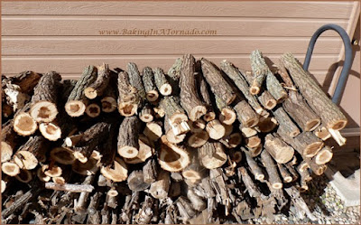 Fly on the Wall: Grocery Store Woes | Wood pile picture | www.BakingInATornado.com